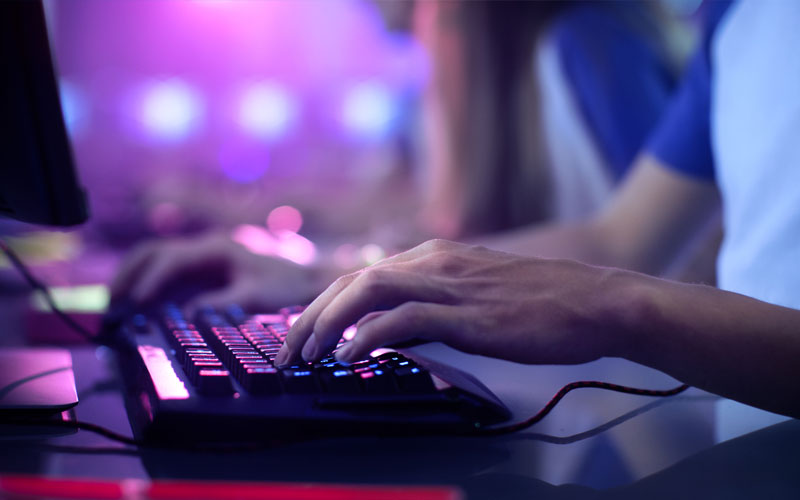 PC Gamer with Keyboard
